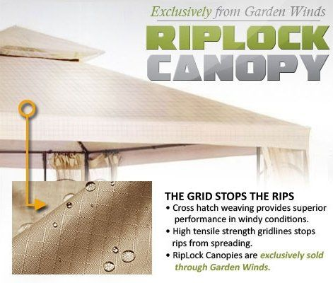 Garden Winds Replacement Canopy for the Haven Bury Gazebo Rip Lock 500 > Replacement canopy only The haven bury gazebo was originally sold by target, model number: l-gz081pst, tgz081 This canopy is made of garden wind's premium high performance rip lock 500 fabric Check more at http://farmgardensuperstore.com/product/garden-winds-replacement-canopy-for-the-haven-bury-gazebo-rip-lock-500/