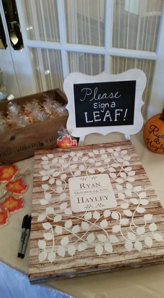 autumn wedding guest books - Gecce.tackletarts.co
