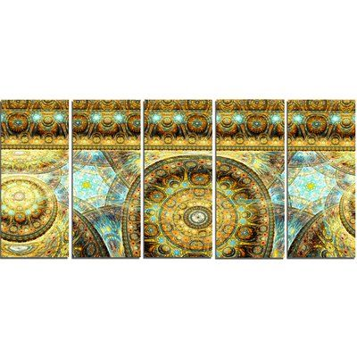 DesignArt 'Brown Extraterrestrial Life Cells' Graphic Art Print Multi-Piece Image on Canvas