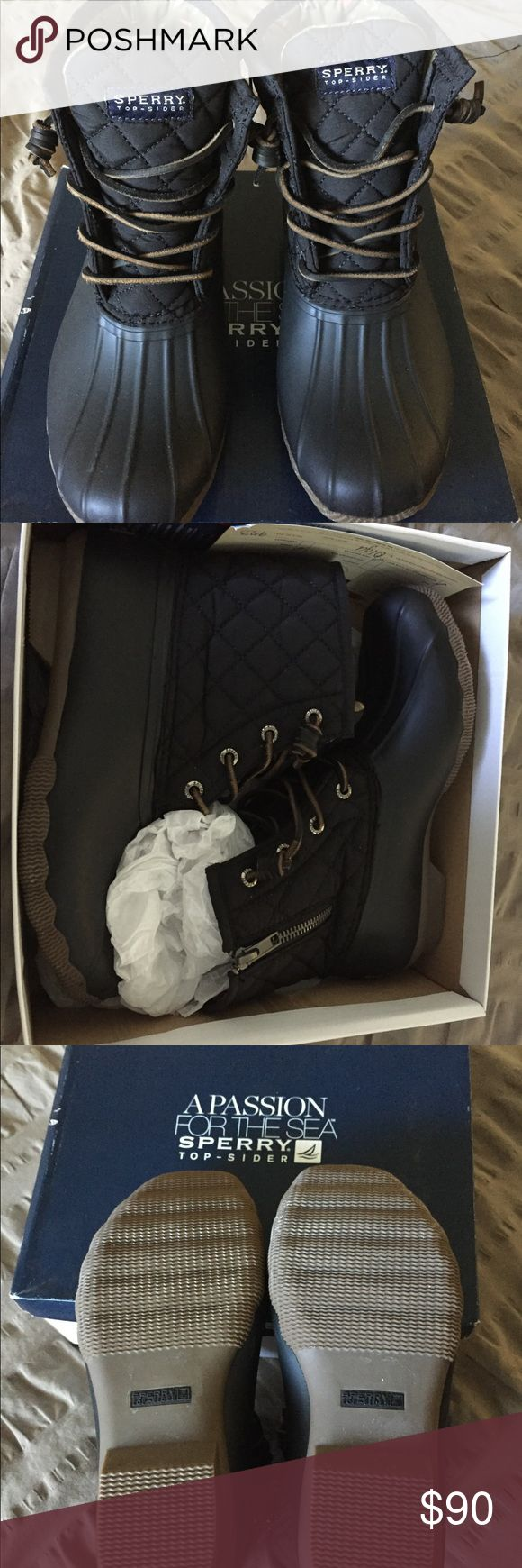 NWOT Sperry Saltwater duck boots New Sperry saltwater duck boots Sperry Top-Sider Shoes Winter & Rain Boots
