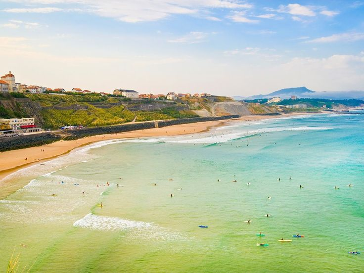 "A renowned summer getaway for royals and celebrities alike (you might remember it from Hemingway's The Sun Also Rises), the ""wild beaches"" of Biarritz, in Basque country along the Bay of Biscay, are also hugely popular with surfers thanks to their mellow, safe-for-beginners waves."