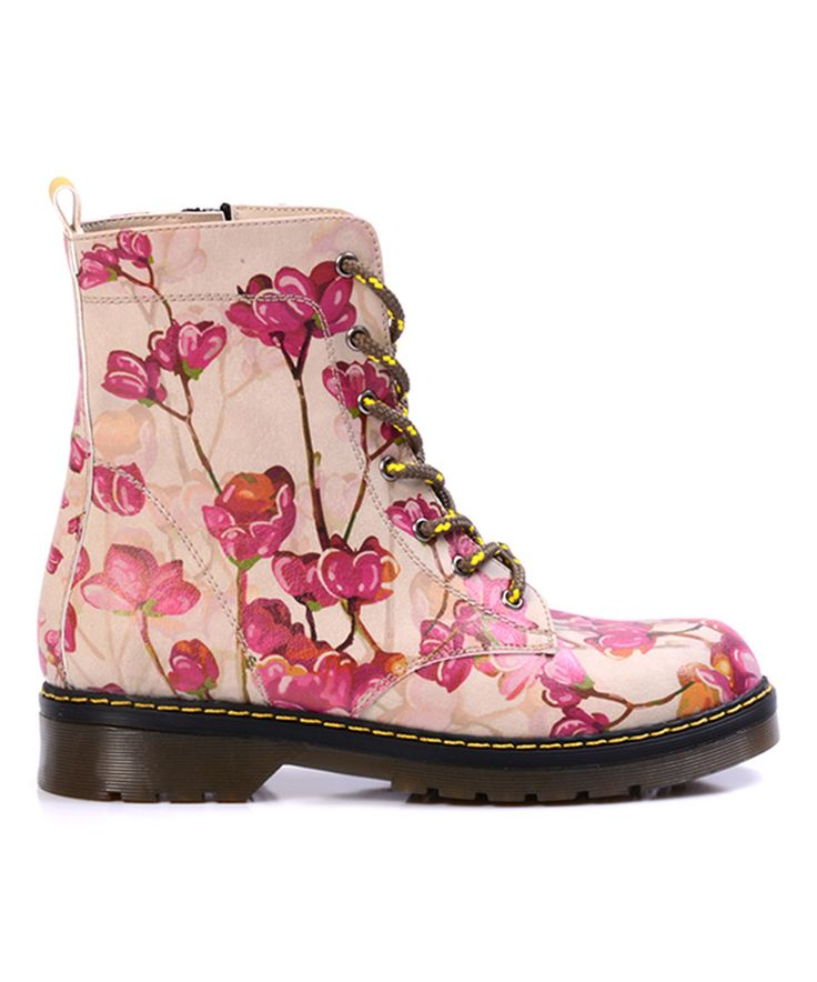 Another great find on #zulily! Goby Fuchsia Blossom Combat Boot - Adult by Goby #zulilyfinds