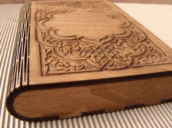 Engraved wooden photo box. Gorgeous!