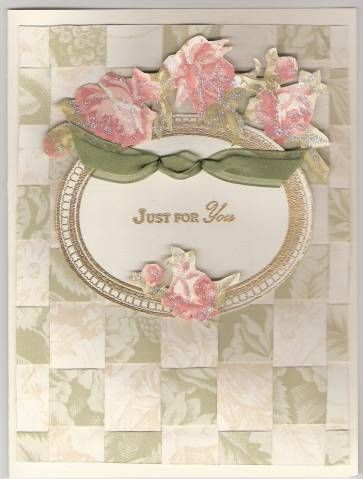 This was my first paper weave card.