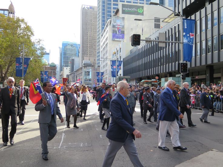 ANZAC Day March - visiting veterans and guests from Timor-Leste