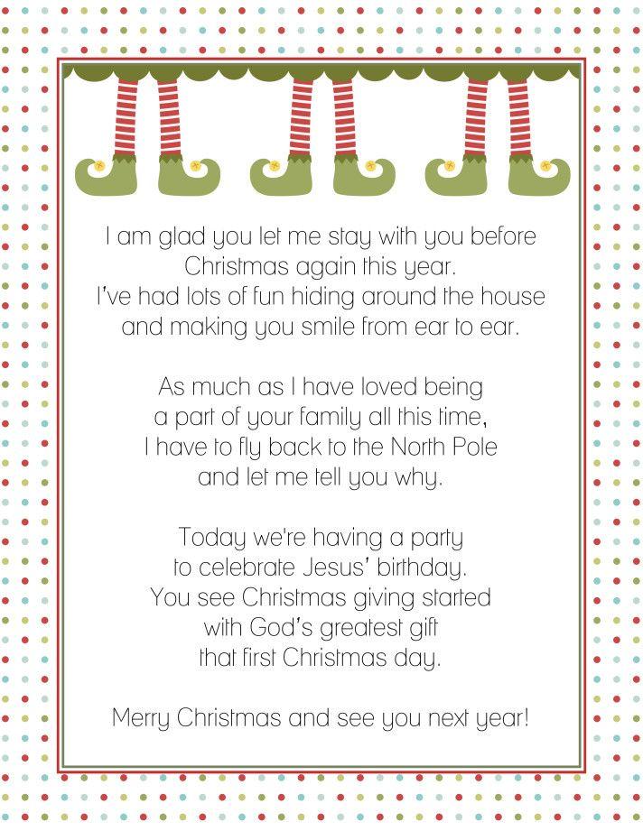Goodbye Letter from the Elf on a Shelf - Fancy Shanty