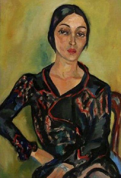 Irma Stern - Woman's Head and Torso; Rebecca Hourwich Reyher