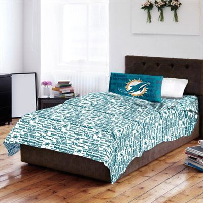 Miami Dolphins Bed Sheet Set