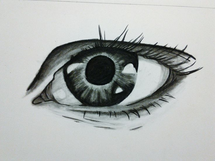 Eye charcoal sketch