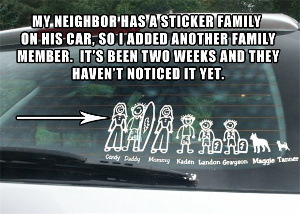 Heather Shaeffer you need to get a family sticker for your car so I can add me into it!