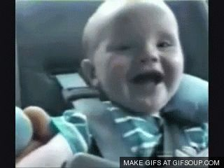 First time driving through a dark tunnel: | 18 Babies Experiencing Things For The First Time