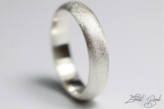 With no beginning or end, this traditional design is the perfect ring to symbolize the never ending and immortal love you share with one another.  The simple and practical design of the half round wedding band is a popular choice for daily wear. Its easy to keep clean and preferred by those looking for a timeless look to last a lifetime.  *Please select your size from the drop down menu  ~ ~ ~Detailed Description~ ~ ~  Half Round Brushed Surface Finish Wedding Ring  Metal: Sterling Silver…