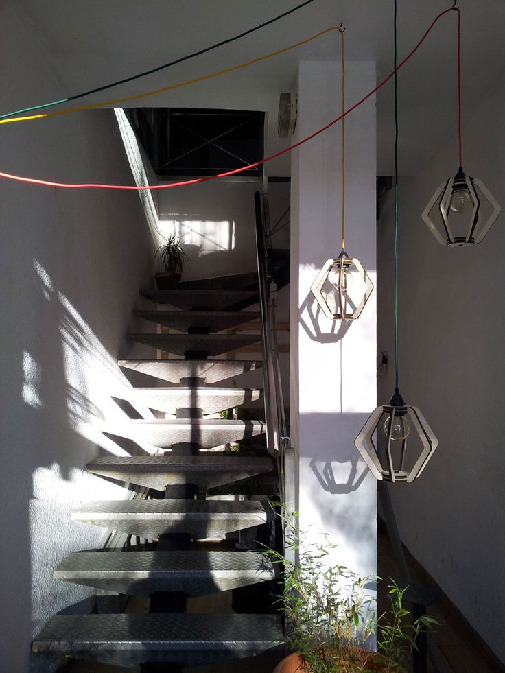 Cool entrance with beautiful pending lamps!