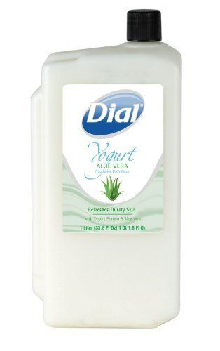 Aloe Vera Yogurt Tattoo Removal: Dial 1182576 Yogurt Aloe Vera Body Wash, 1L Refill