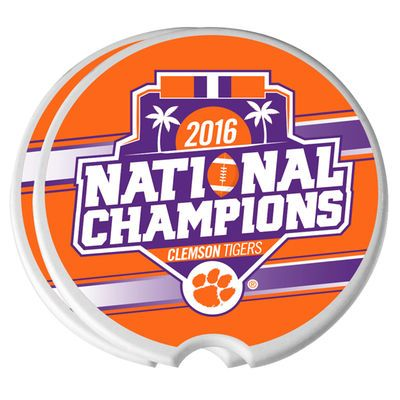 Clemson Tigers College Football Playoff 2016 National Champions 2-Pack Ceramic Car Coasters