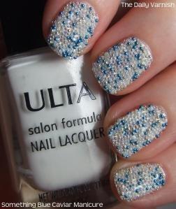 Something Blue Caviar Manicure  #BodyToolz #nails #beauty