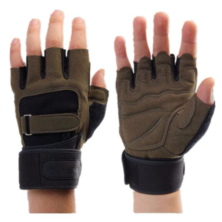 Weight Lifting Gym Gloves Men Sports Gloves Fitness Workout Exercise Training Protect Wrist
