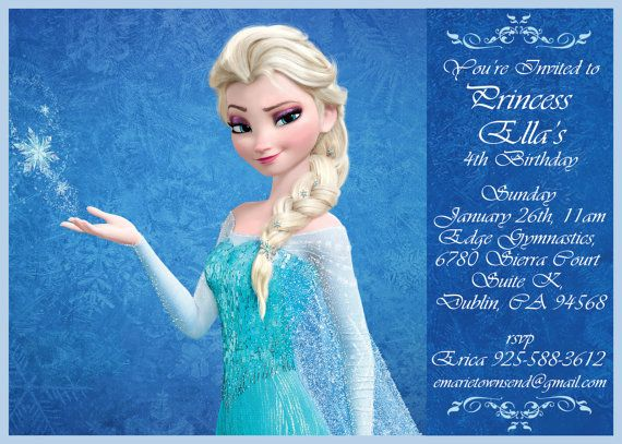 Frozen birthday invitation Disney's Frozen by ...