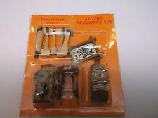 Hello Dolly Dollhouse Miniatures Kitchen Accessory Set - Phone, Stool, Utensils