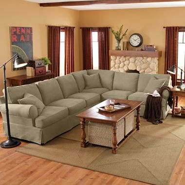 I Brought The Linden Street Slipcovers For $350.00 In 2012 From JCPennyu0027s  Online In Khaki. Linden StreetEthan AllenLiving Room SofaSectional ...