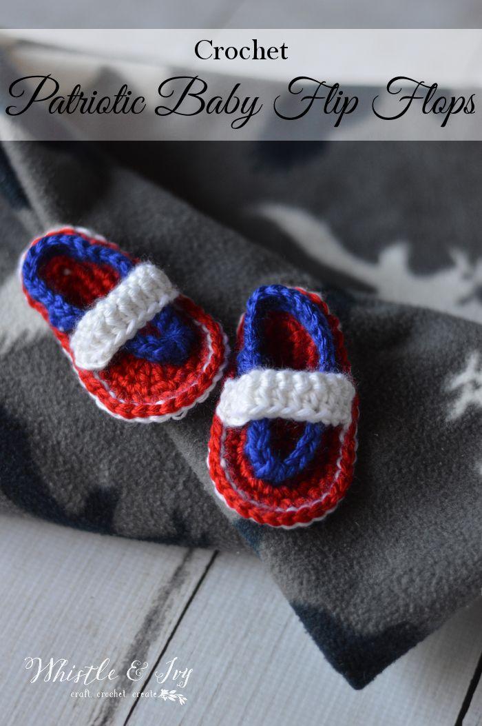 184 besten Crochet Booties (Flip Flops) Bilder auf Pinterest ...