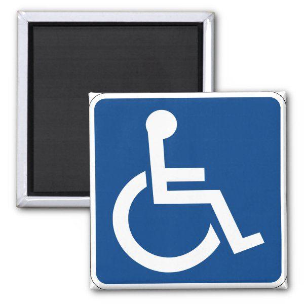 Handicapped Accessible Magnet Zazzle Com Handicap Accessible Handicap Custom Holiday Card