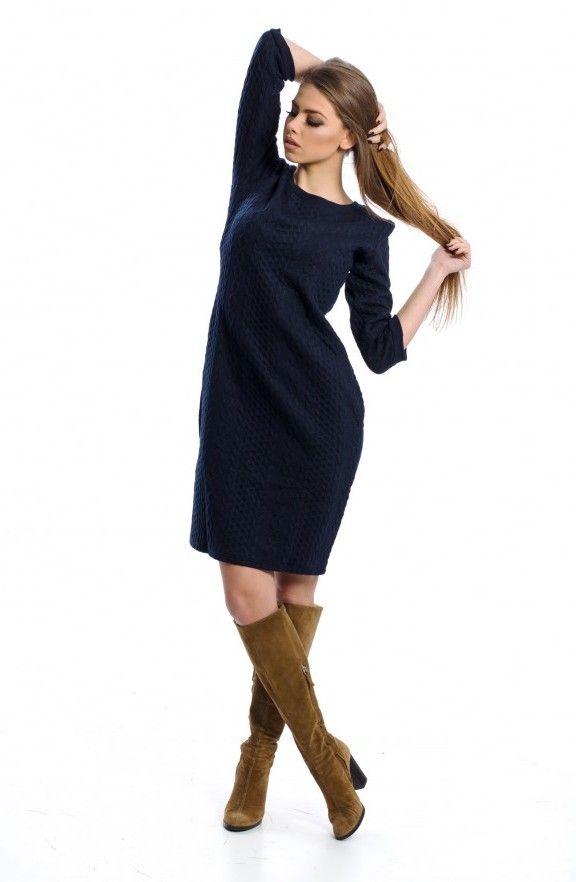 Φόρεμα -  ανάγλυφα σχέδια πλέξης
