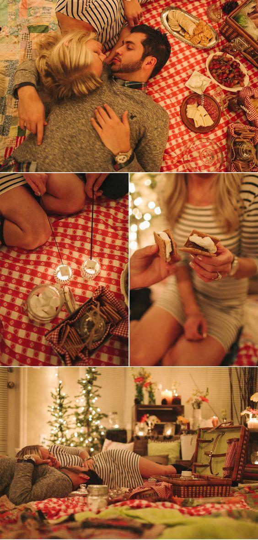 cozy and romantic indoor picnic proposal romantic. Black Bedroom Furniture Sets. Home Design Ideas