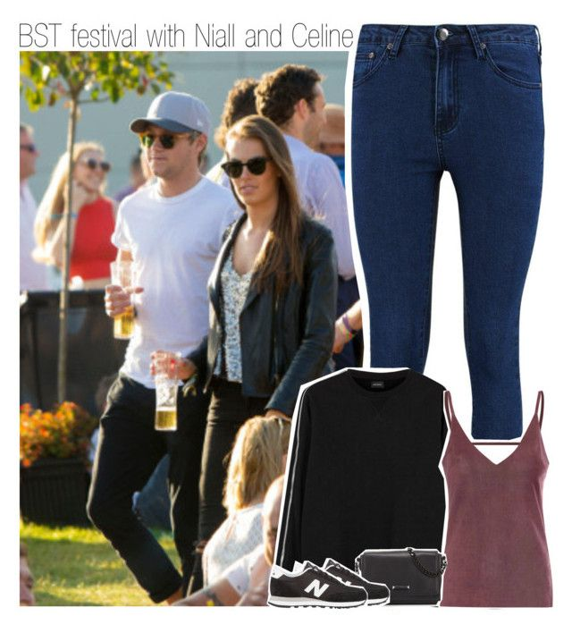 """BST festival with Niall and Celine"" by liamismybabe ❤ liked on Polyvore featuring Glamorous, Kendall + Kylie, New Balance, OneDirection, NiallHoran and CelineVandycke"