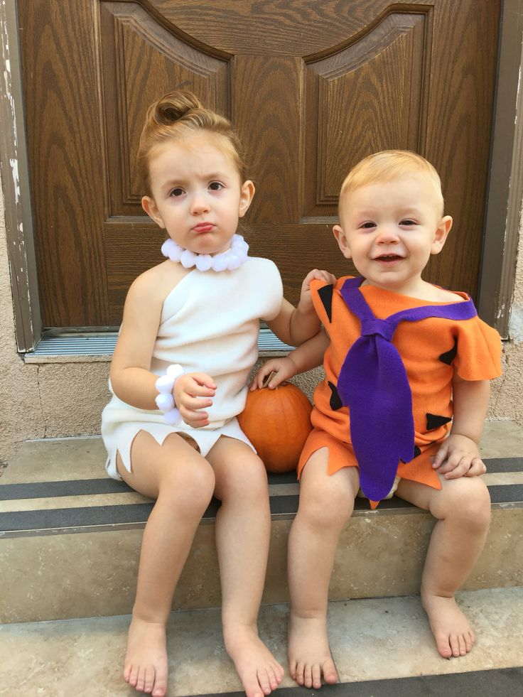 fred and wilma brother and sister halloween costume - Halloween Ideas For Siblings