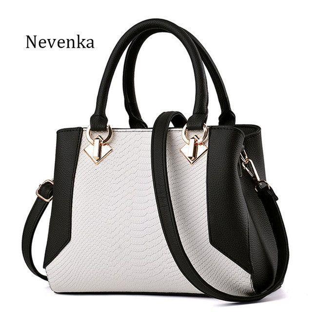 bd16101e126b Nevenka Women Handbag PU Leather Bag Zipper Crossbody Bags Lady Bag ...