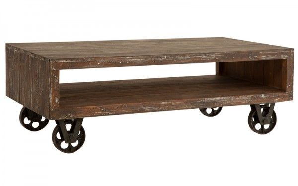 Stonemill Coffee Table Reclaimed Pine Rustic Brown   OZ Design Furniture & Homewares