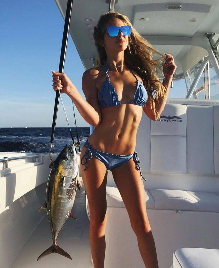 Bikini ice fishing girls