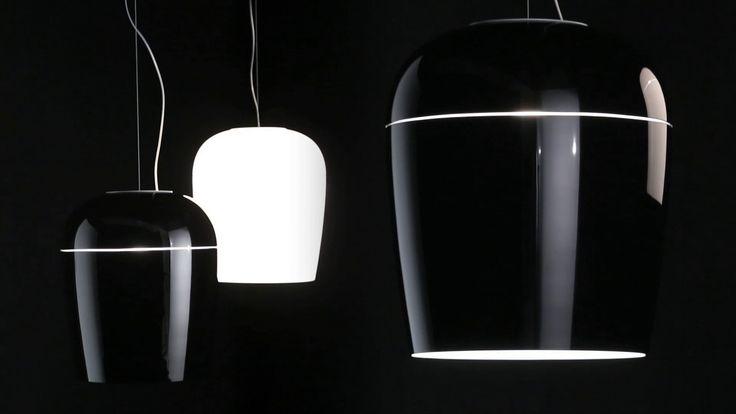#Tiara blown glass suspension fixture with external engraving, design by #Prandina #lighting #interiordesign