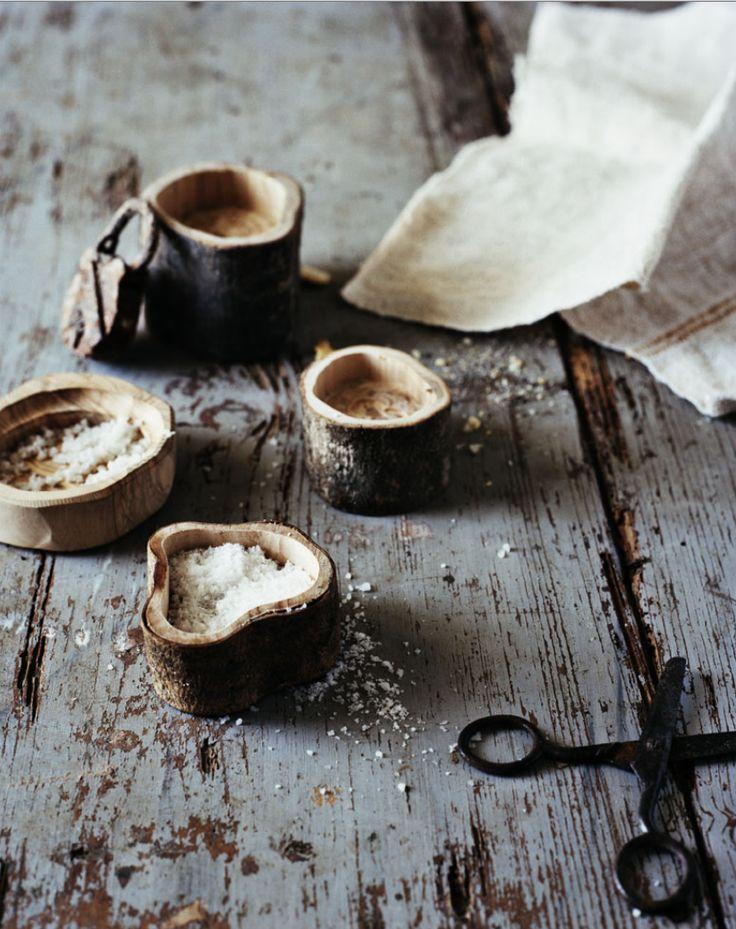 Andrea Brugi's hand carved salt dishes