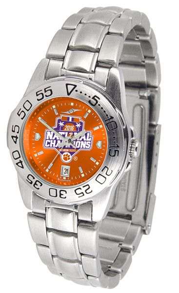 Clemson Football National Champions 2016 Ladies Sport Steel Watch With AnoChrome Dial