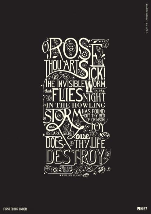 Rose thou art sick....