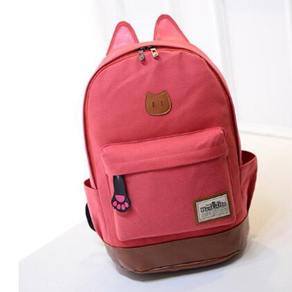 D Cat Ear Backpack For Kids