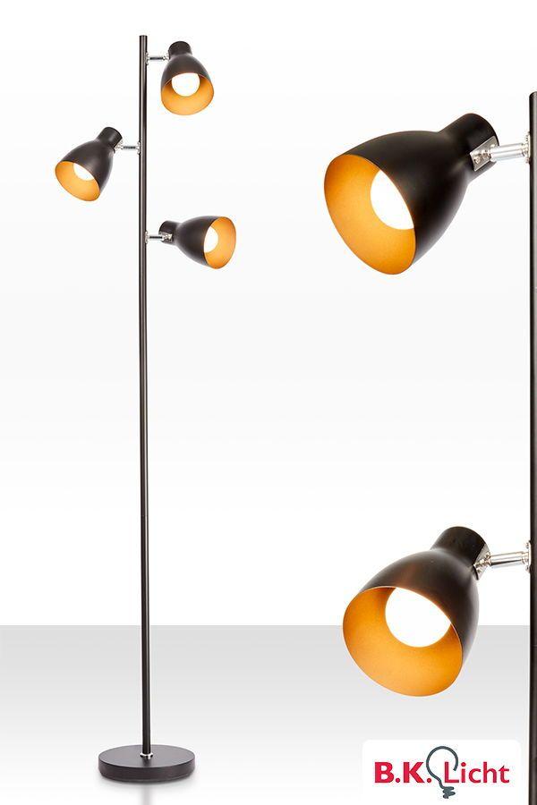 Schoner Wohnen Stehleuchte Schwarz Metall I Deckenfluter I Designklassiker I Industrie I Retro I Schwarz Gold I Jetzt Bei Amazon Lampe Stehlampe Leuchtmittel