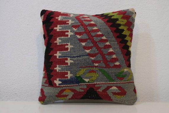 12x12 High quality handwoven Turkish small lumbar kilim by kilimci