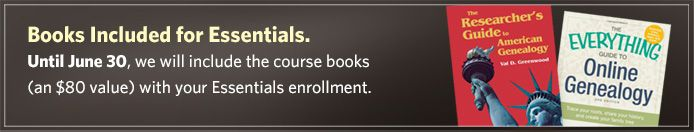 GENEALOGICAL ESSENTIALS COURSE, BOSTON UNIVERSITY - This course is ideal for: Serious students new to the field of genealogy Hobbyists and enthusiasts who would like more formal training Those who are preparing for the Online Certificate Program in Genealogical Research.