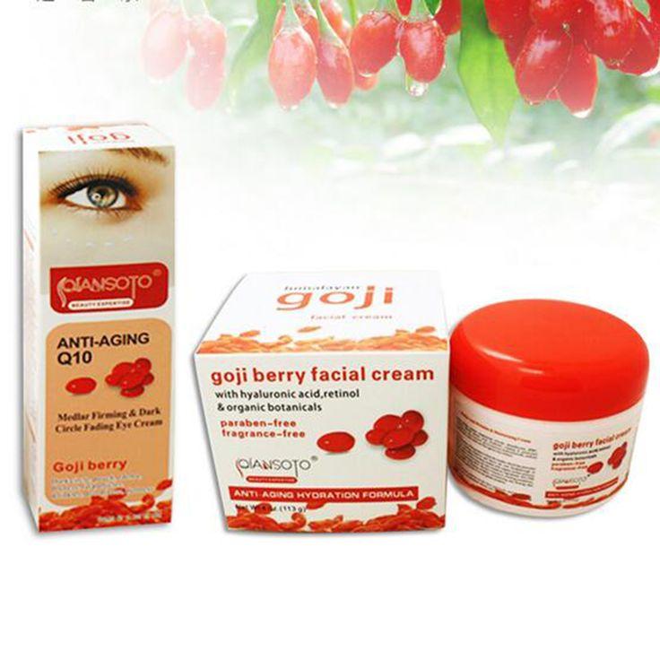 2Pieces Goji Facial Cream Eye Cream Ageless Cream Face Whitening Skin Care Anti Wrinkle Eye Cream Remove Dark Circles Under Eyes