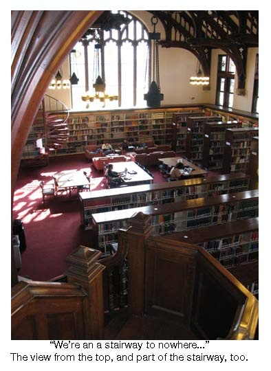 The lovely Mount Holyoke College library...  not so lovely after spending several nights there during finals time!