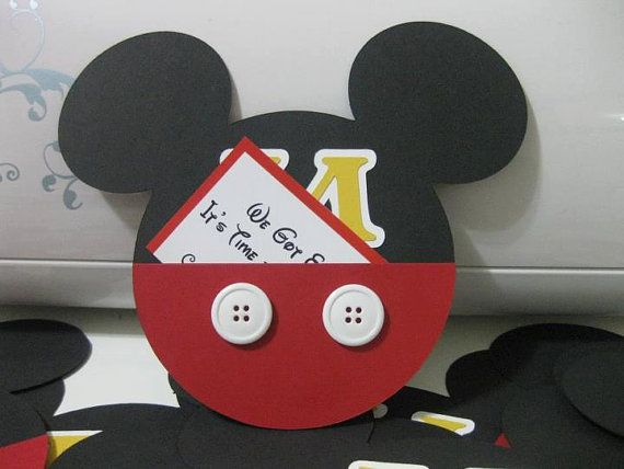 23 best mickey mouse cards images on pinterest | disney cruise, Birthday invitations
