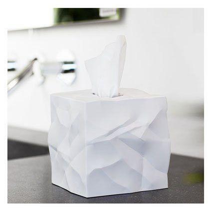 Essey ES05301 Wipy Tissue Box Cover, White by Essey