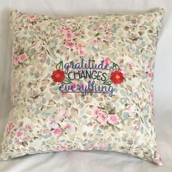 Cushion cover / Inspirational quotation /Decor Pillow