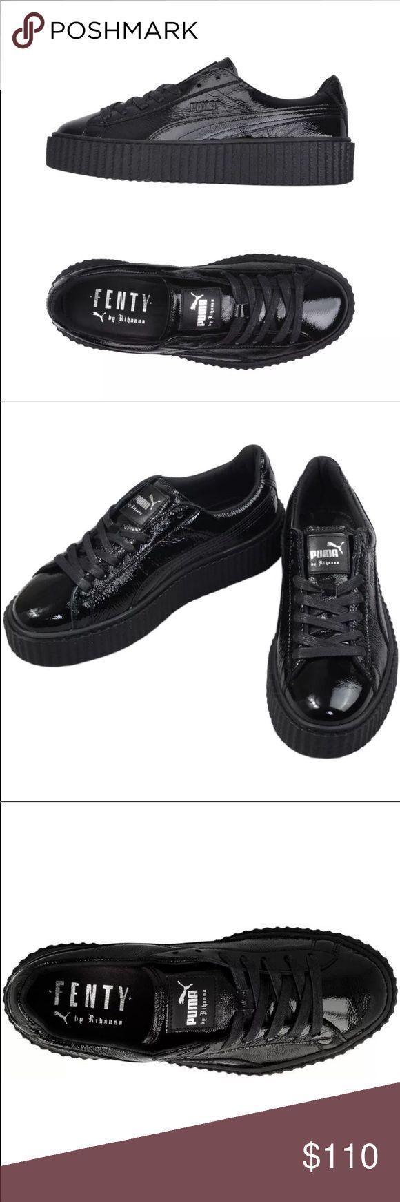 Puma Schuhe Puma Fenty Rihanna Creeper Wrinkled Pvc Schwarz Farbe Schwarz Creeper Farbe Fenty P In 2020 Pumas Shoes Rihanna Creepers Black Platform Shoes