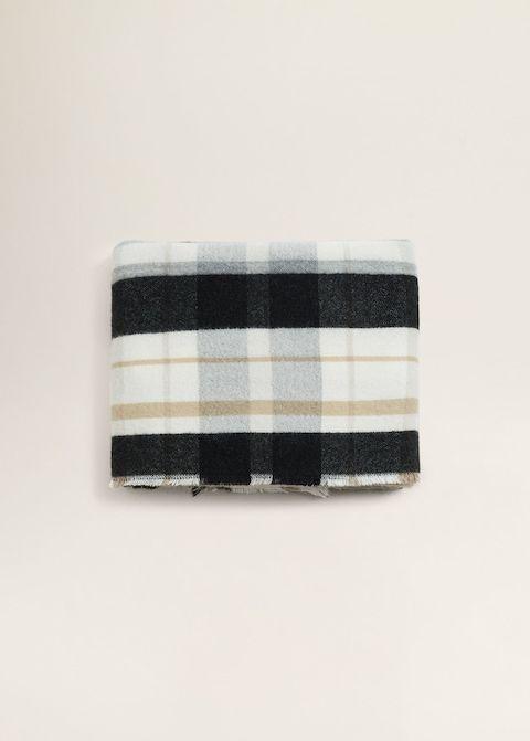 Tricolor check scarf - Women  f4c666213b59a