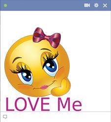 Szeress engem smiley Facebook