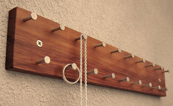 Wood Jewelry Rack by andrewsreclaimed on Etsy, $33.00